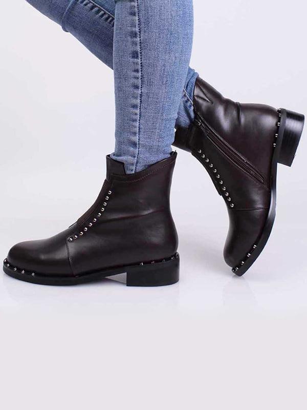 Ботинки коричневого цвета   5650431