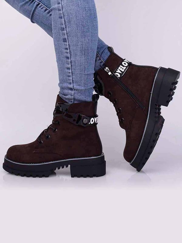 Ботинки бордовые | 5650483