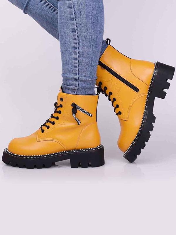 Ботинки желтого цвета   5650488