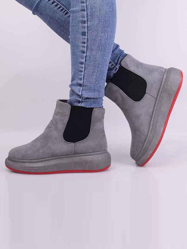 Ботинки серые | 5650619
