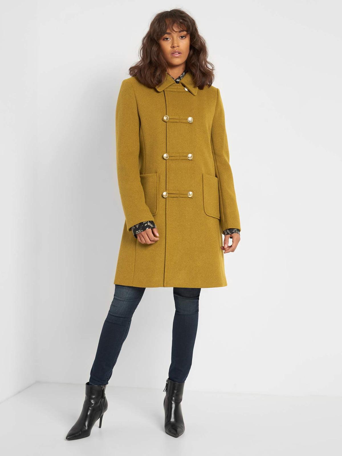 Пальто горчичного цвета | 5647313