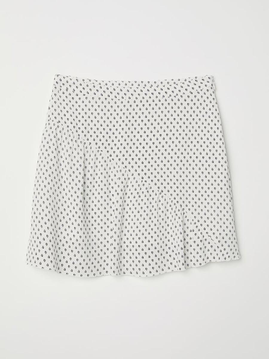 Спідниця біла з принтом | 5651864