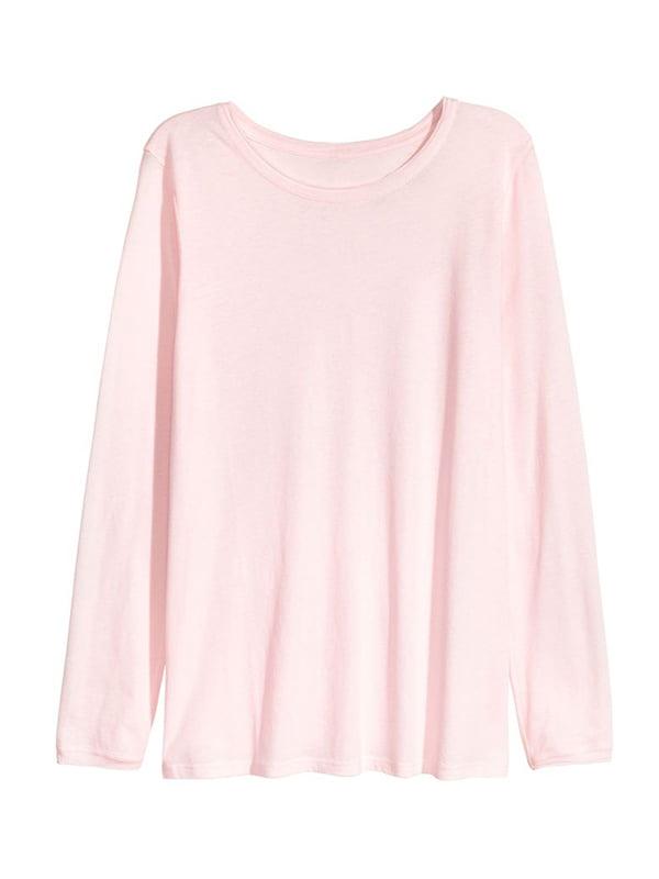 Лонгслів світло-рожевий | 5652032