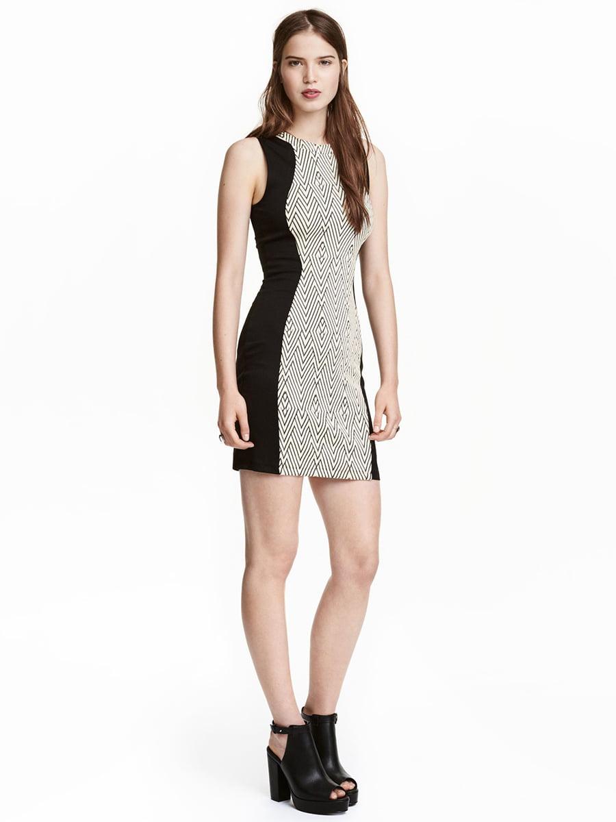 Сукня чорно-біла з візерунком   5652145