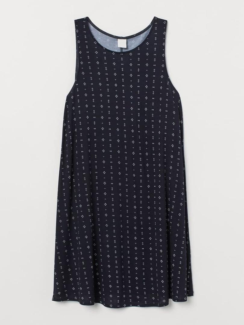 Платье темно-синее с принтом | 5652455