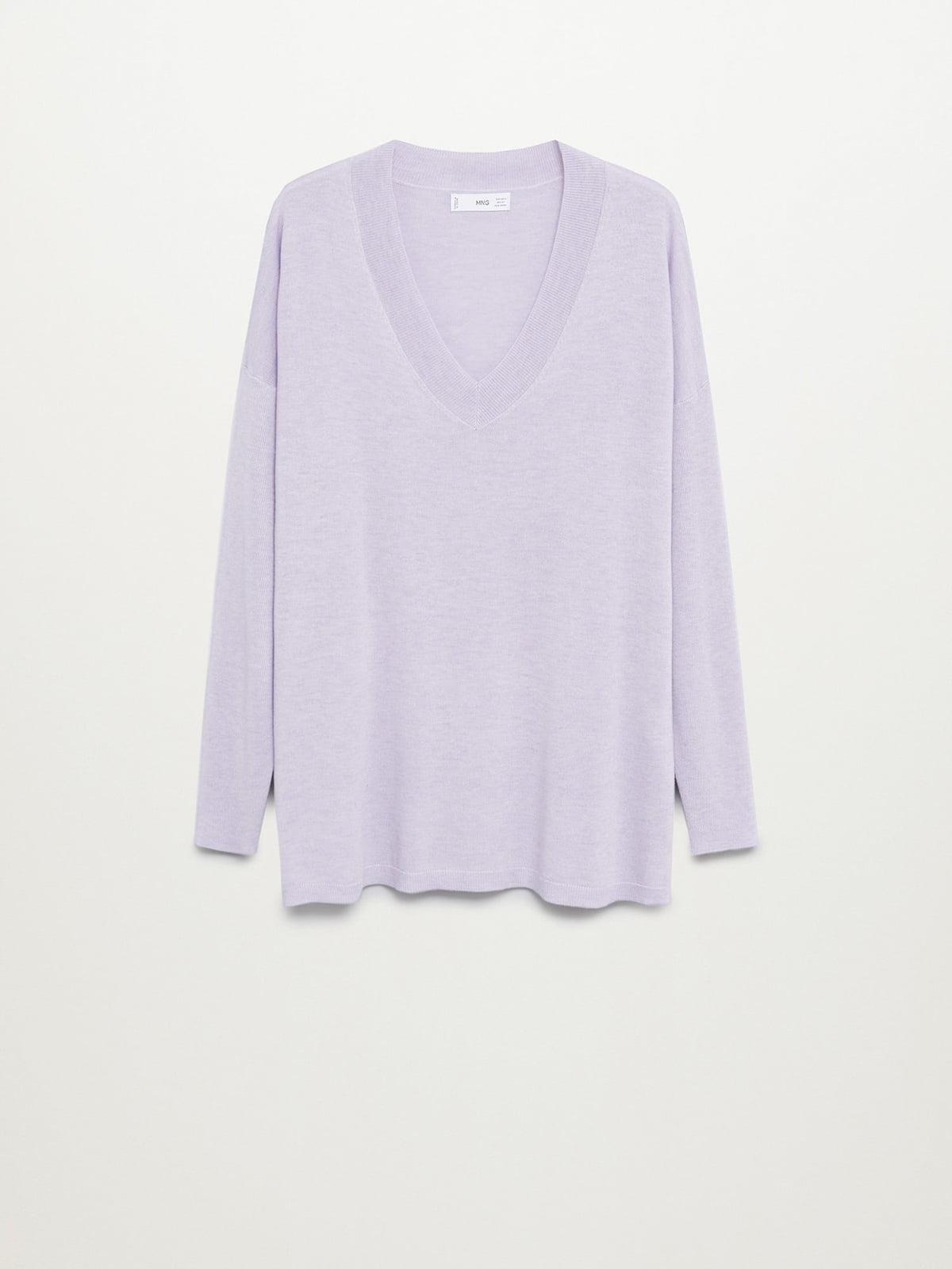Пуловер сиреневого цвета   5647442