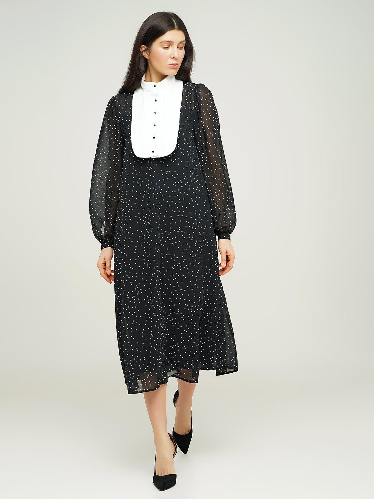 Сукня чорна у горошок | 5656183