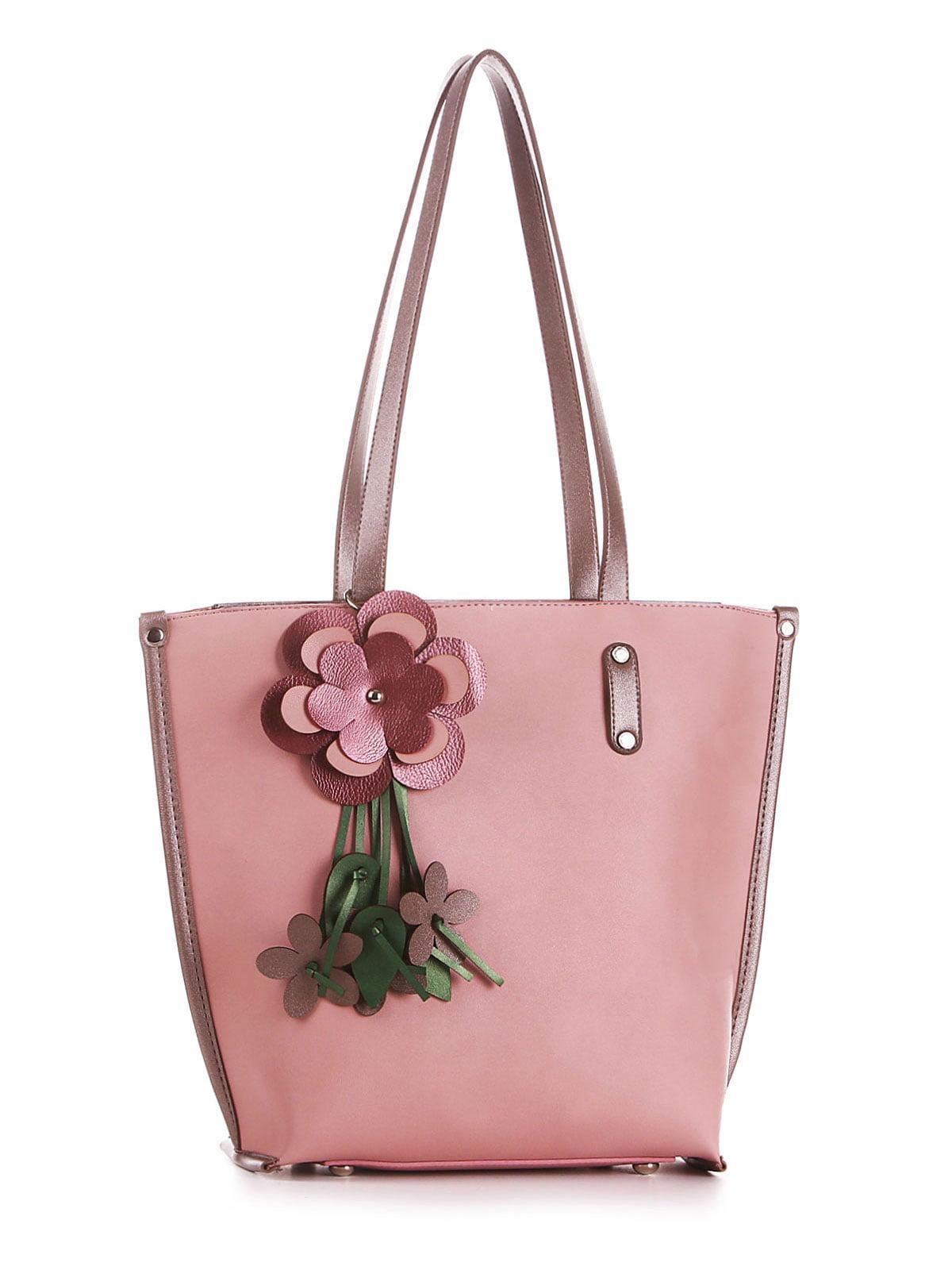 Сумка рожева з декором | 5657362