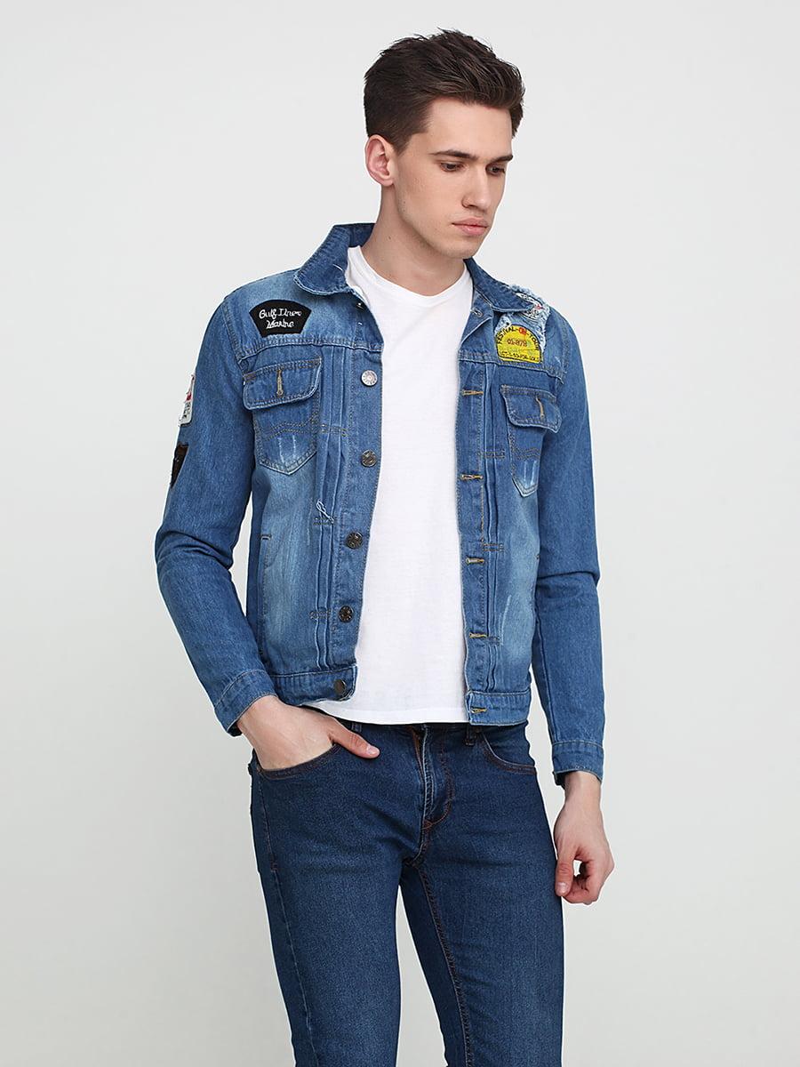 Куртка джинсовая синяя | 5657413