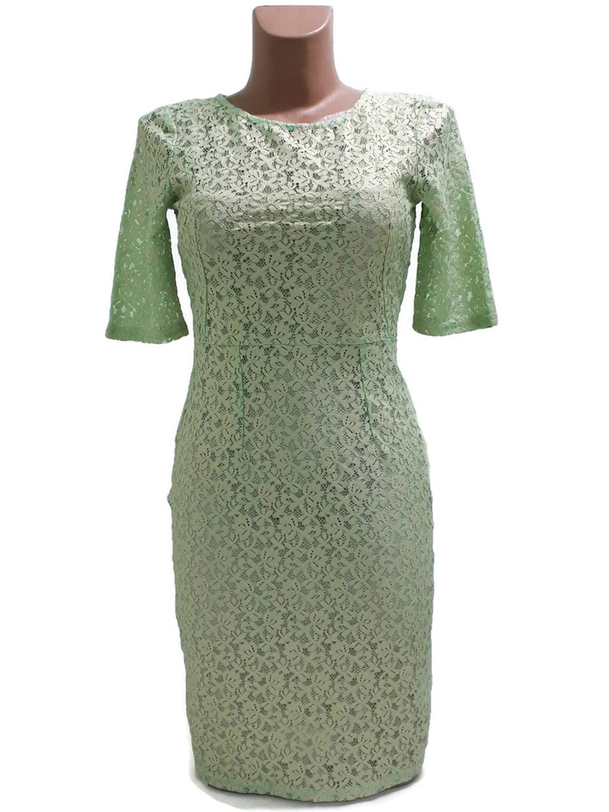 Сукня бірюзового кольору з візерунком | 5658795