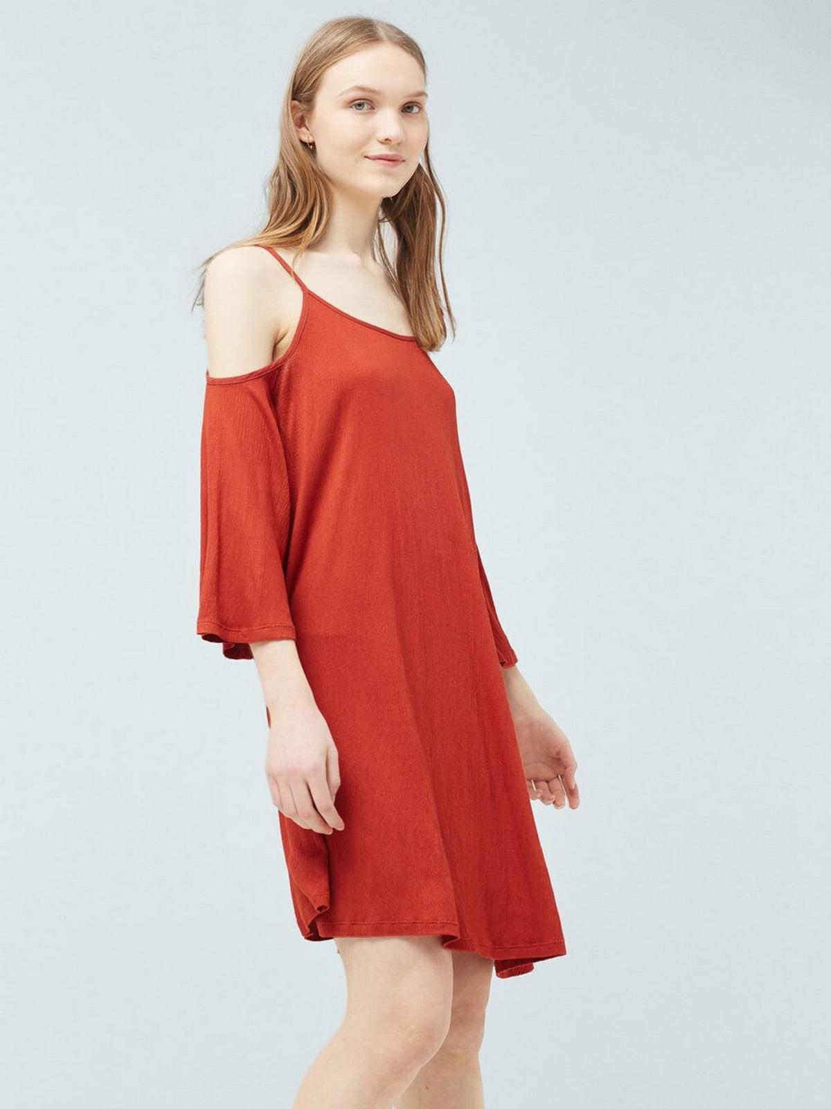 Сукня морквяного кольору | 5658917