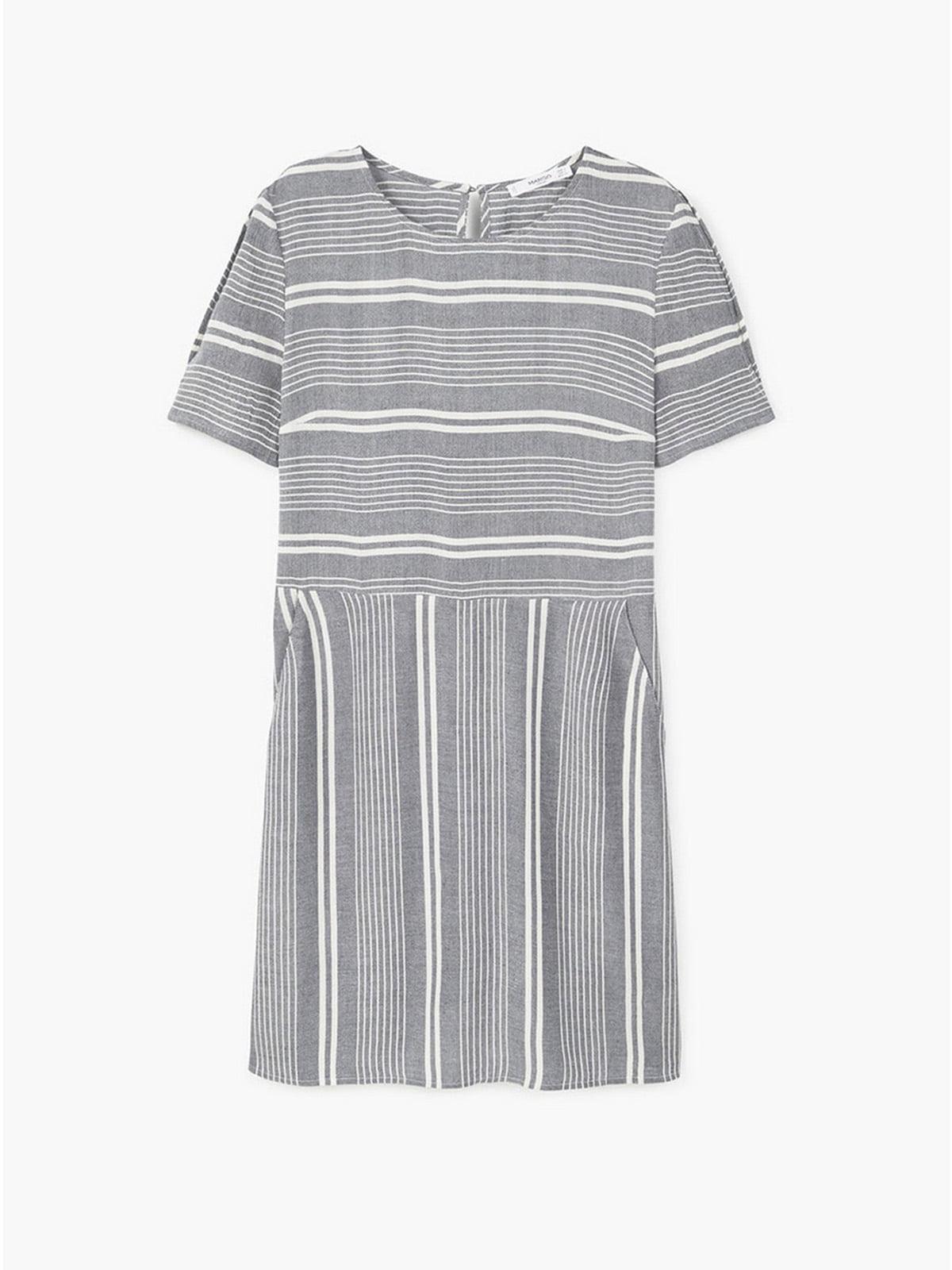 Платье черно-белое в полоску | 5658926
