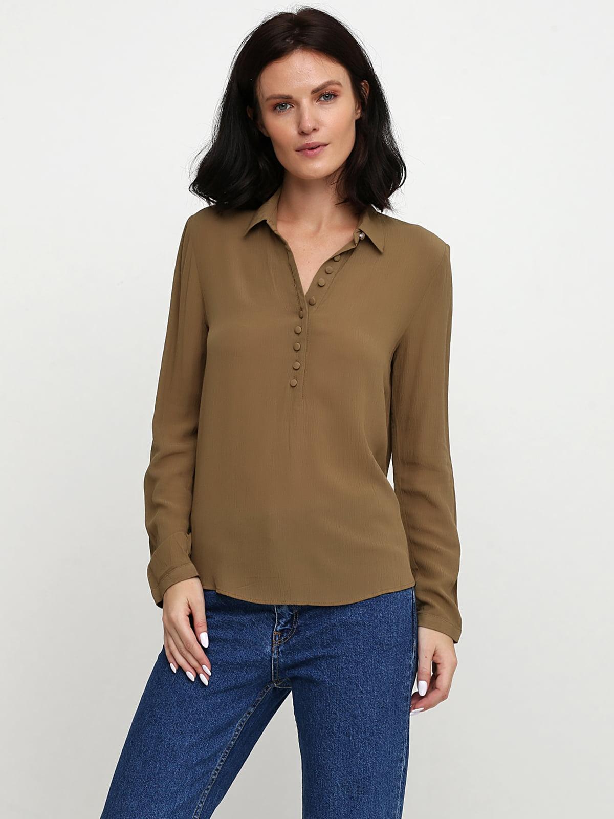 Блуза кольору хакі | 5659234