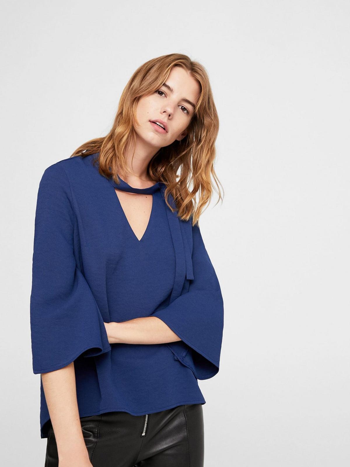Блуза синяя   5659244