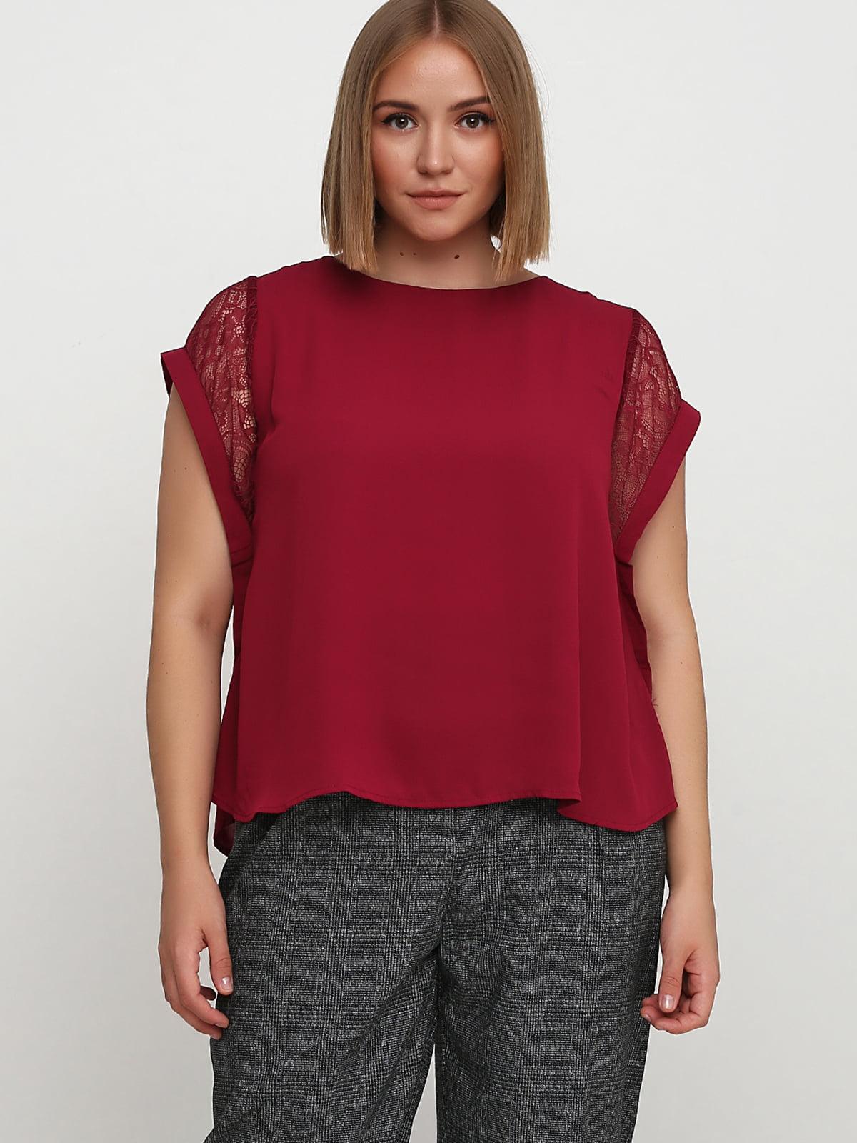 Блуза бордовая | 5659265