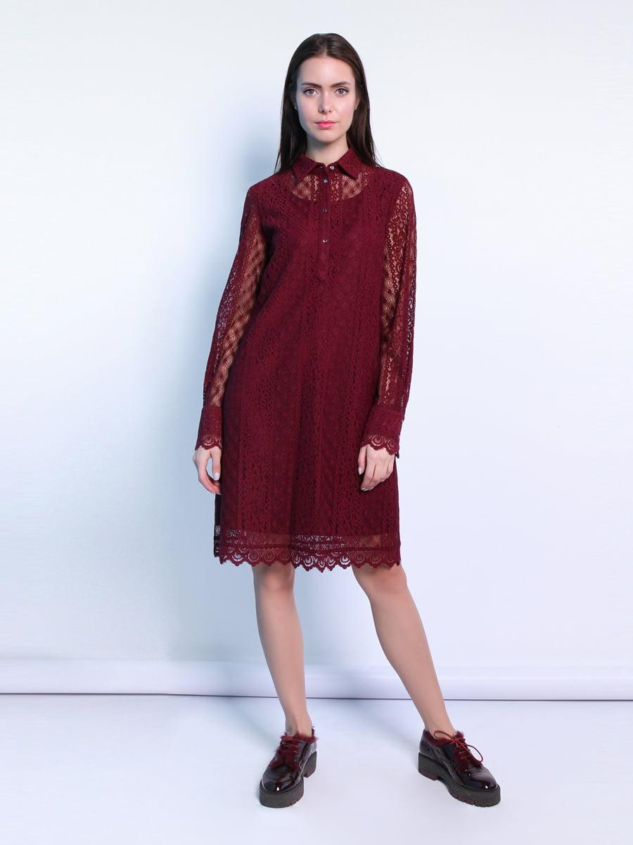 Платье бордовое | 5343296