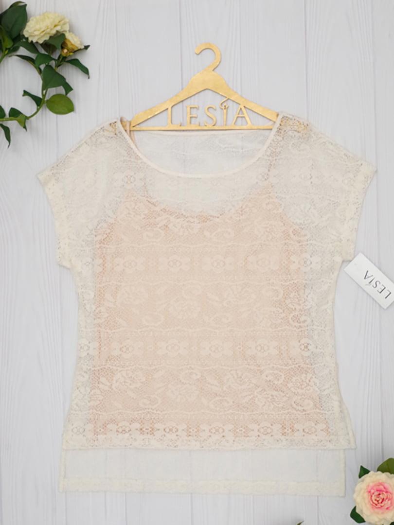Блуза молочного цвета | 5508697