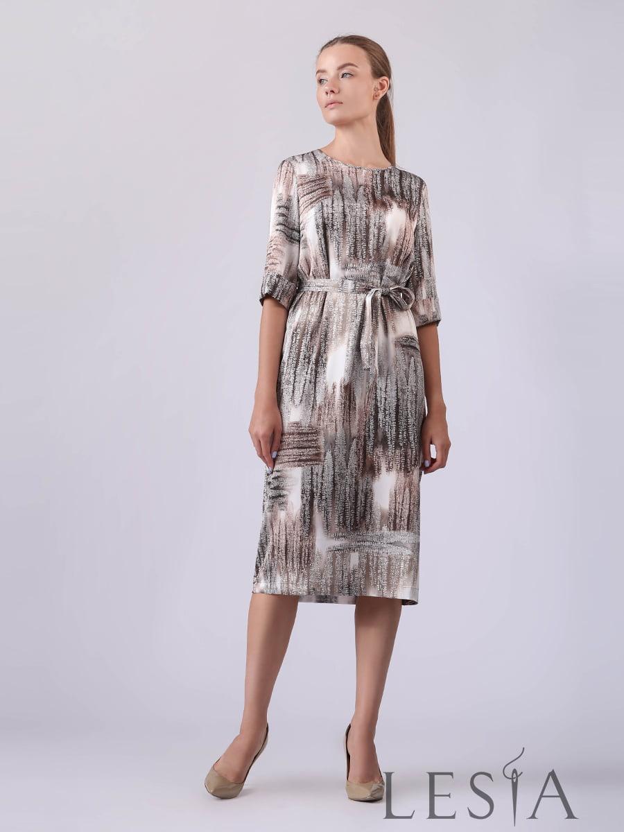 Платье разноцветное в принт | 5533096