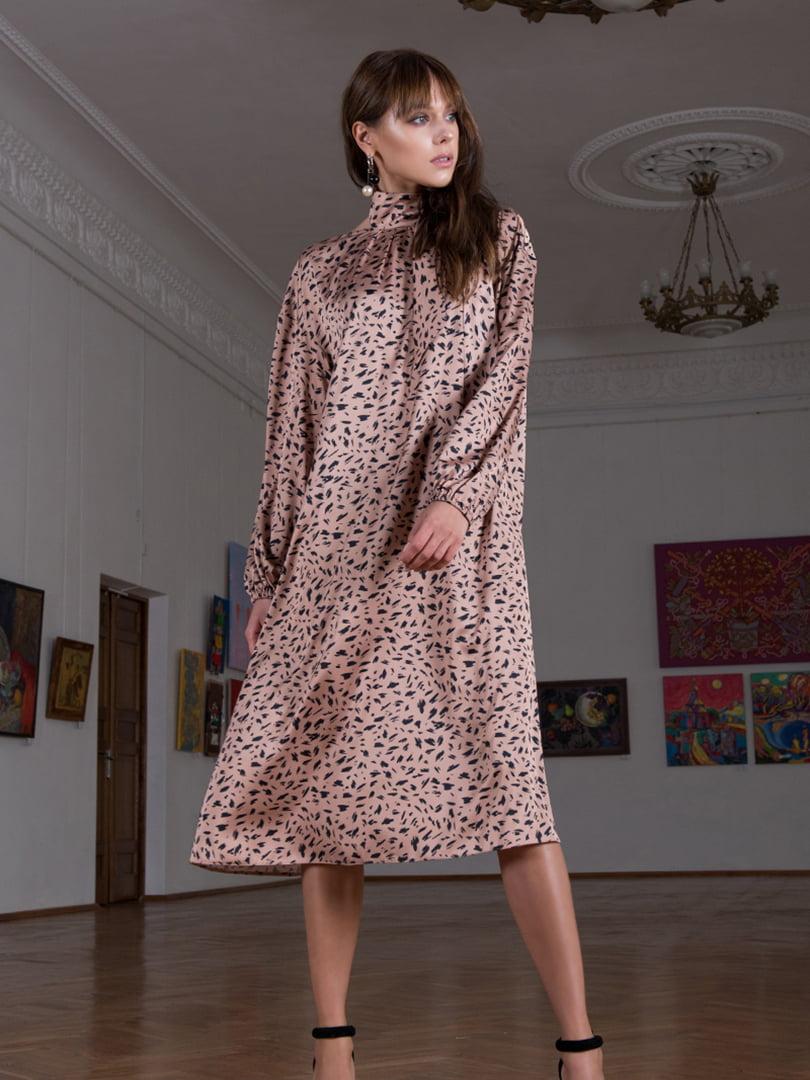Сукня бежева в принт   5593365
