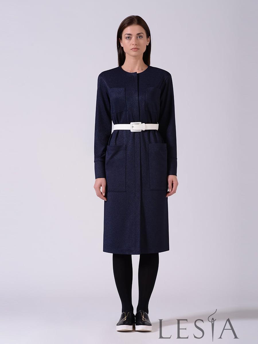 Платье синее   5593378