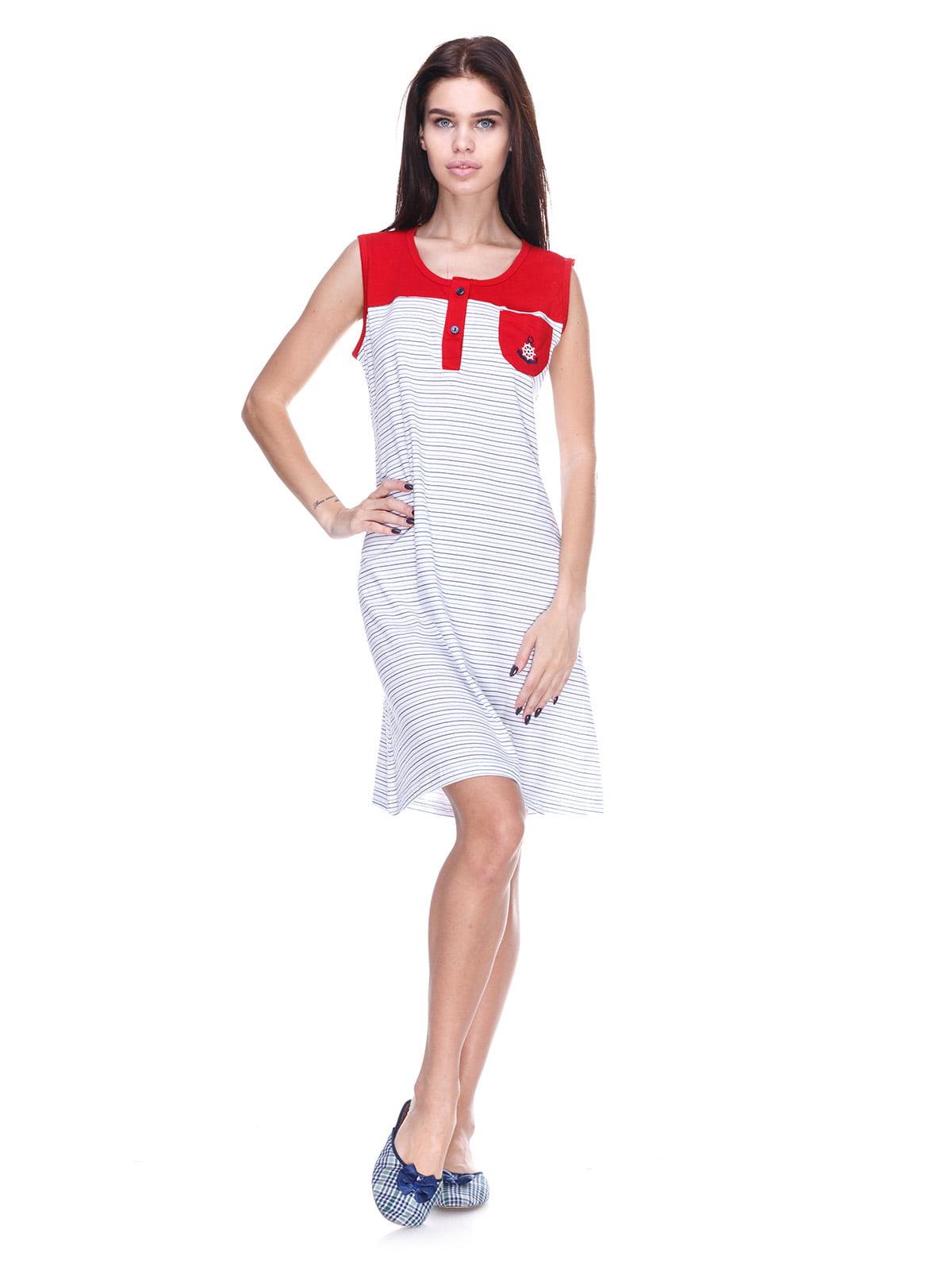 Платье белое в полоску | 5653020