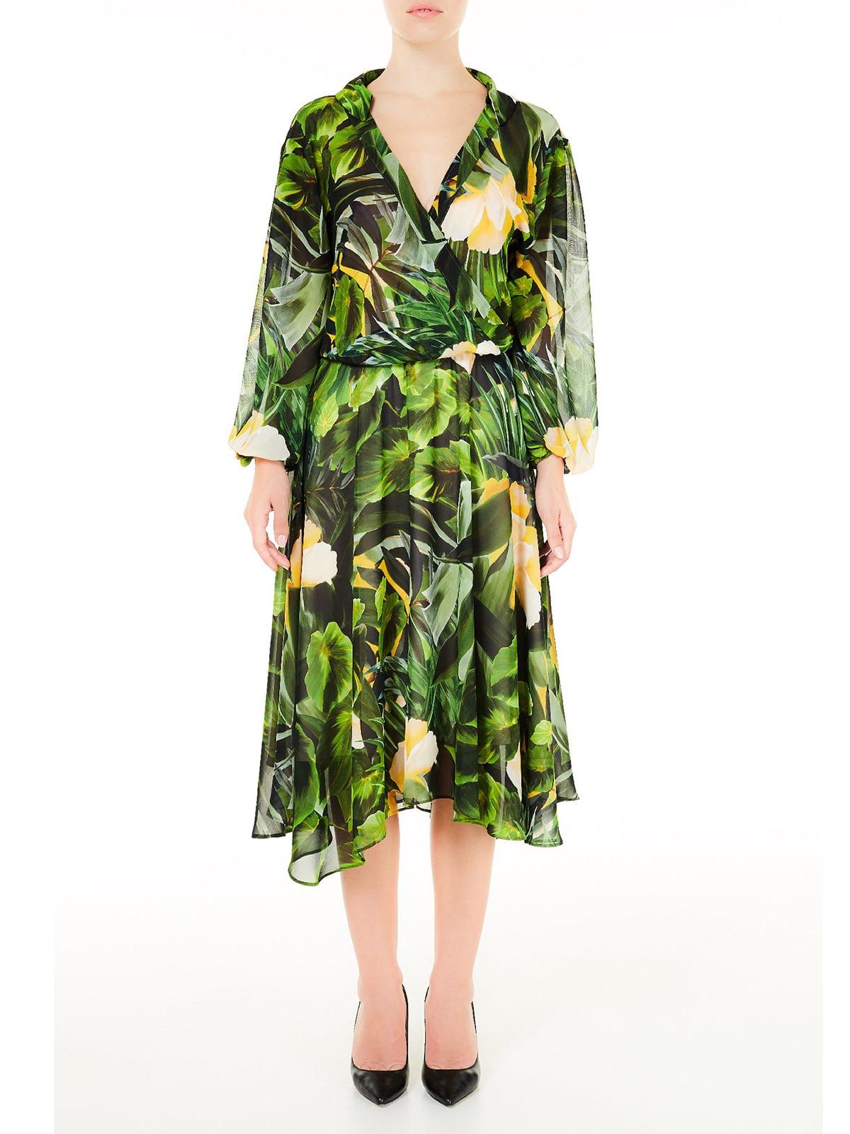 Платье зеленое в принт   5663522