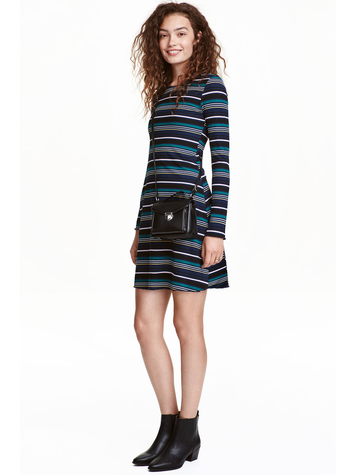 Платье темно-синее в полоску | 4953064