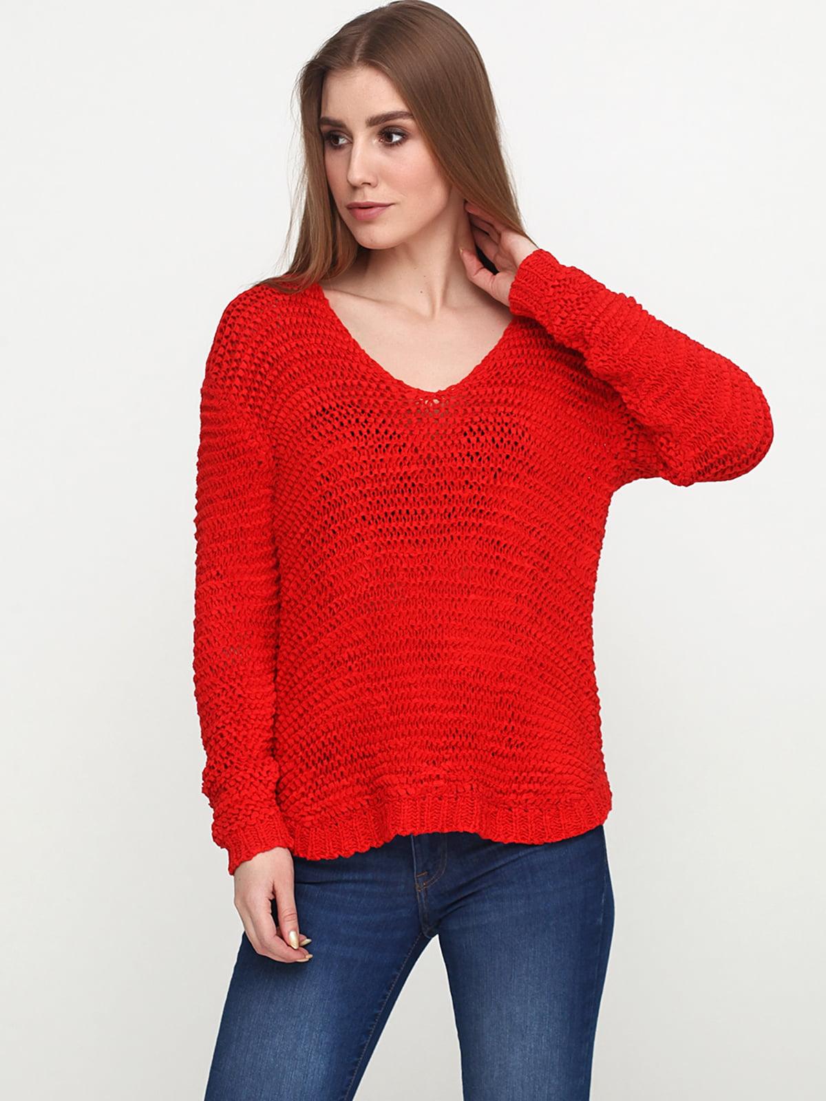 Пуловер красный | 4956540