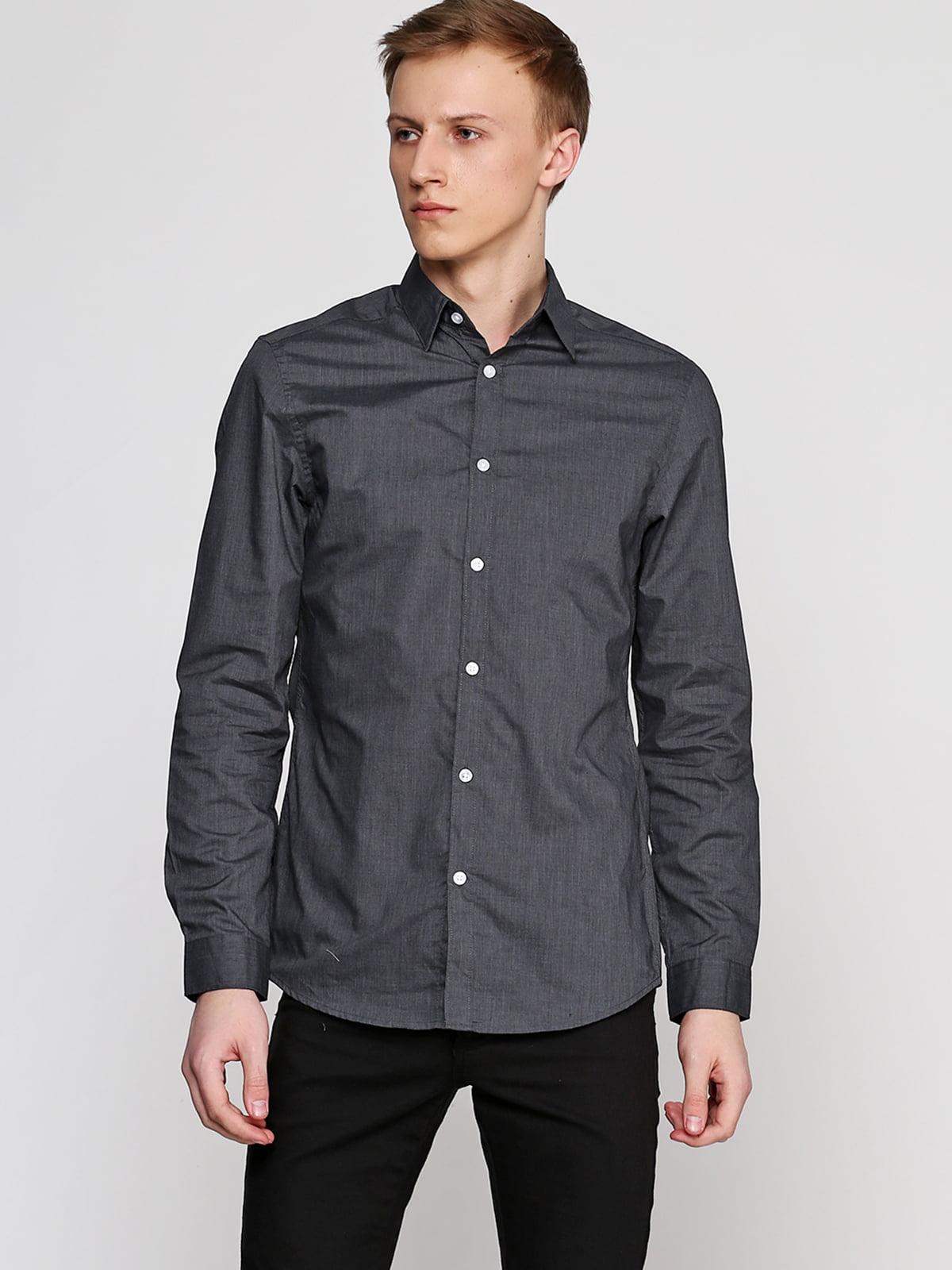 Сорочка темно-сіра | 5239952