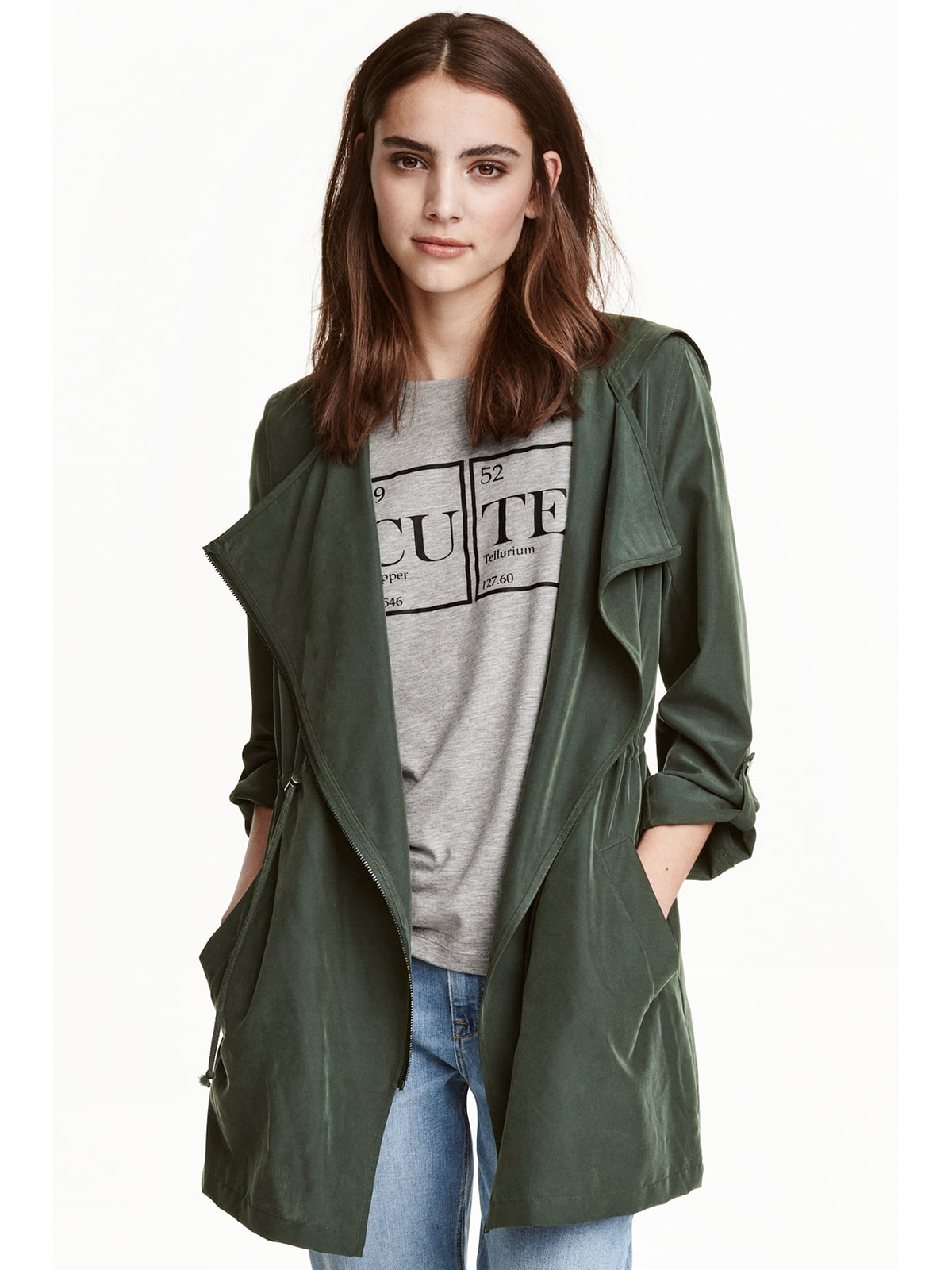 Куртка кольору хакі | 5666699