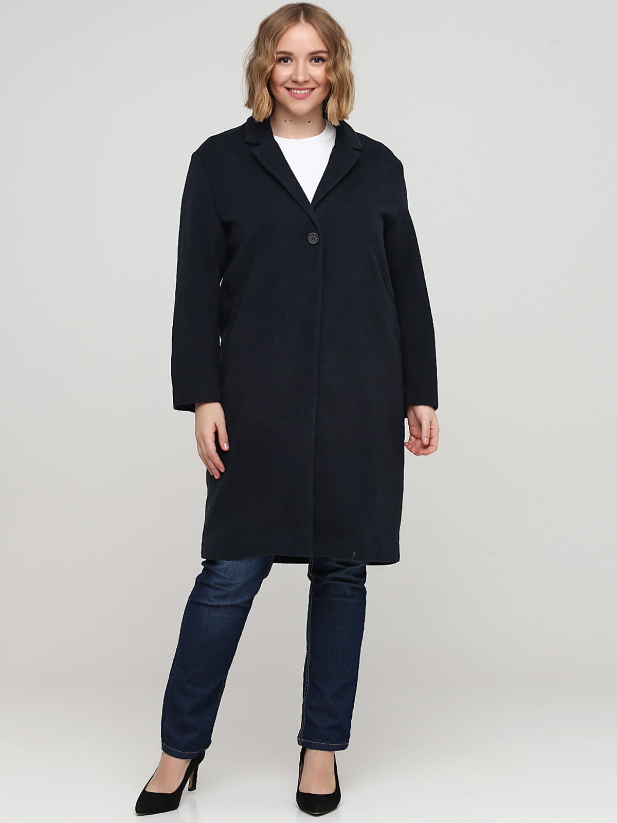 Пальто темно-синее | 5667078