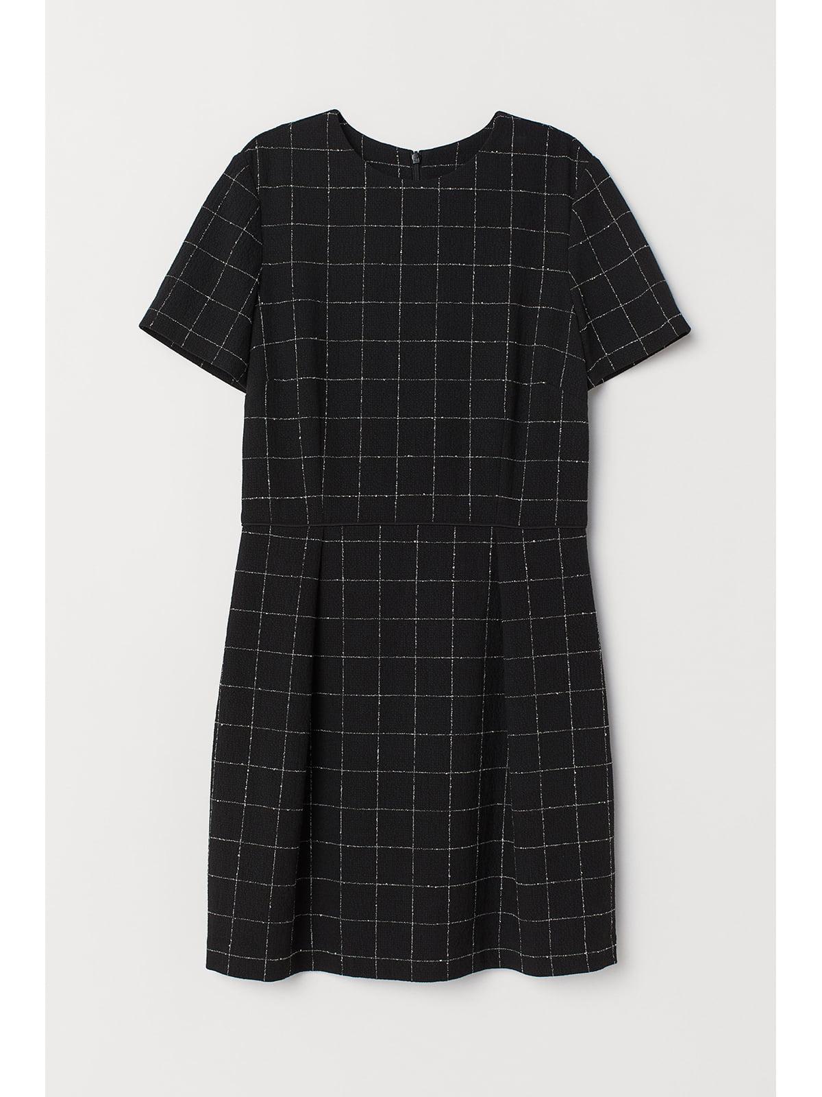 Платье черное в клетку | 5667417