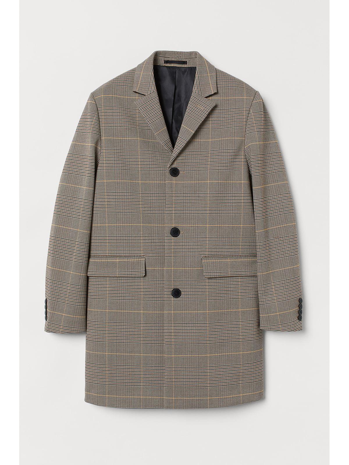 Пальто коричневое в клетку   5667491