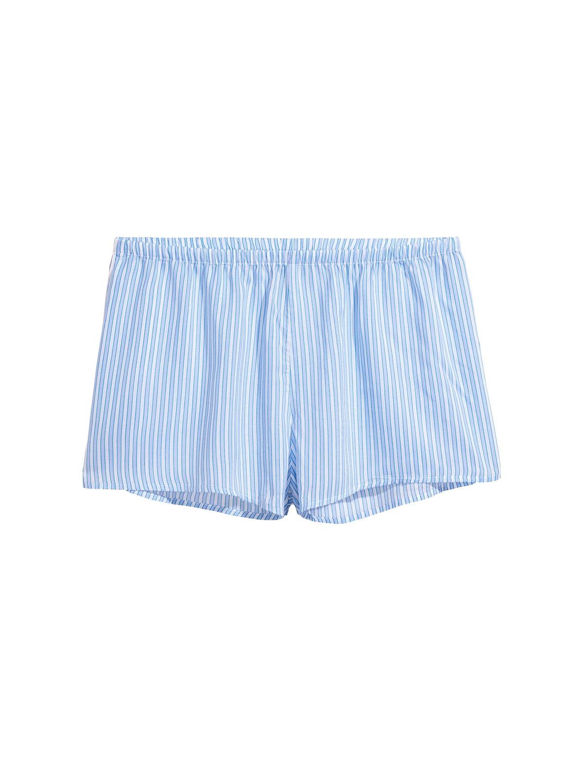 Піжамні шорти блакитні у смужку | 5668172
