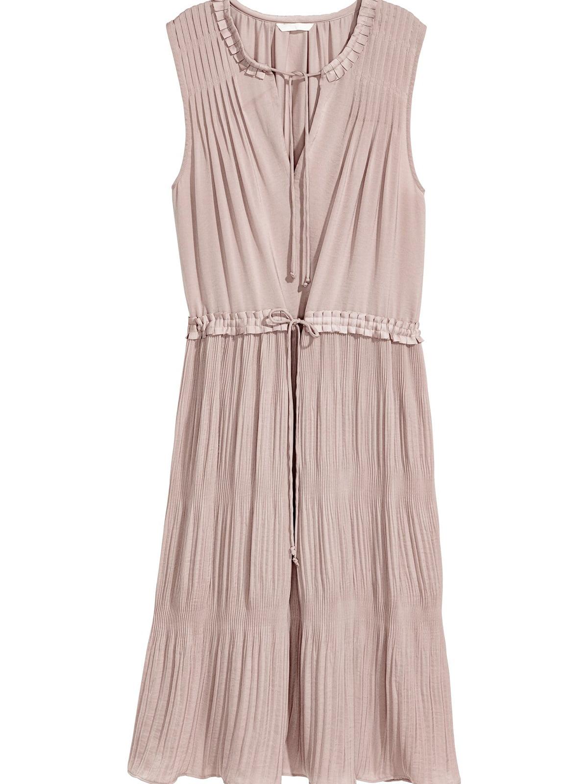 Платье серо-бежевое | 5677095