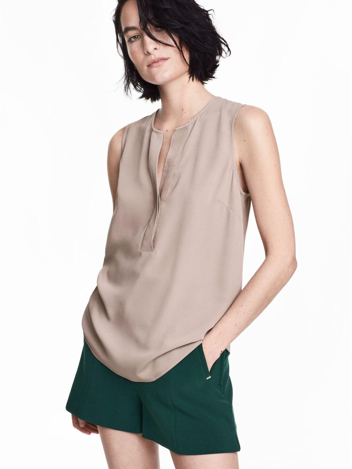 Блуза темно-бежева | 5677114