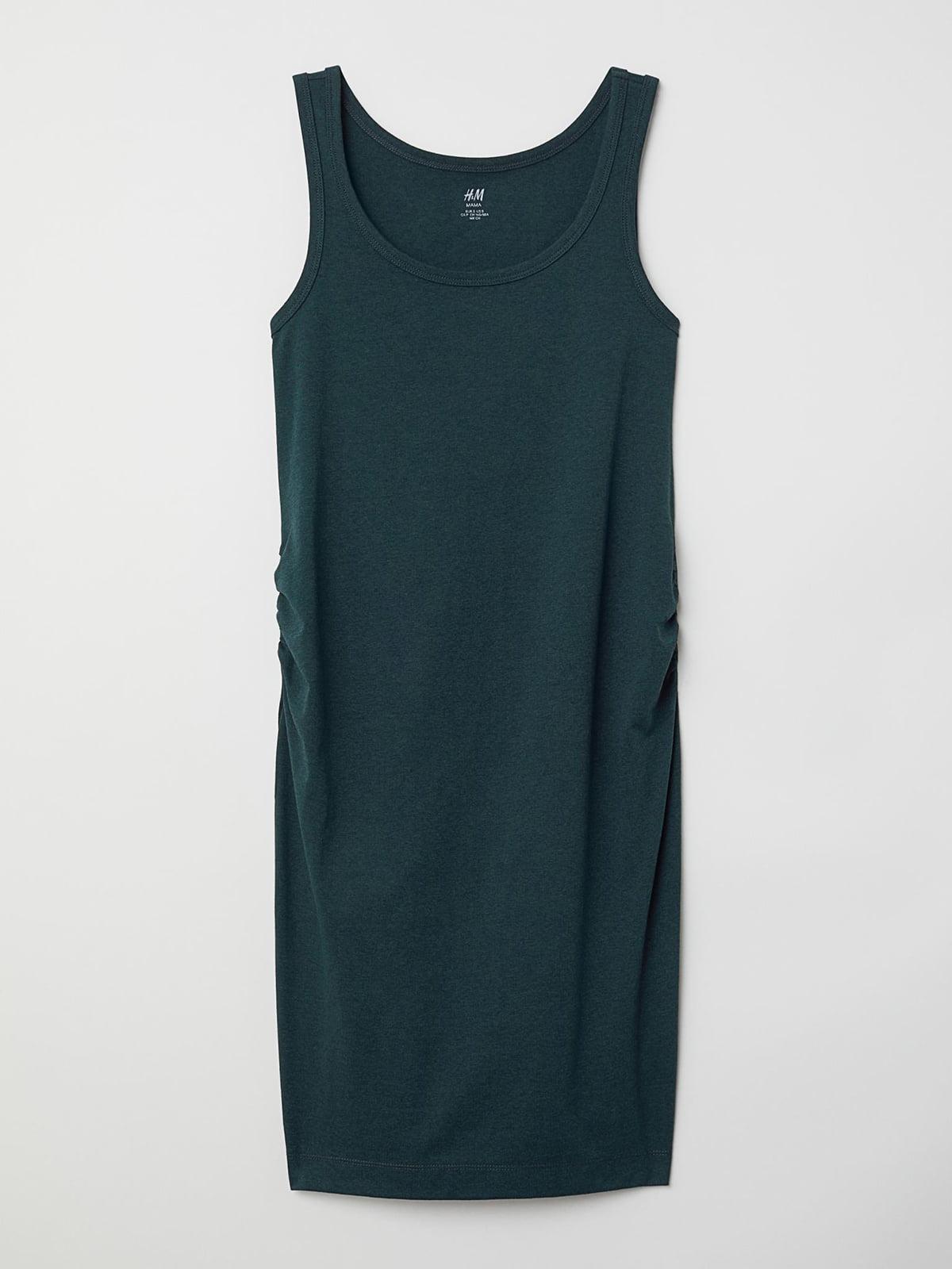 Платье для беременных темно-зеленое | 5677405