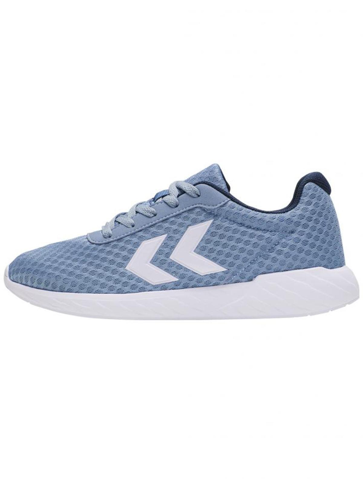 Кроссовки голубого цвета с логотипом | 5677981