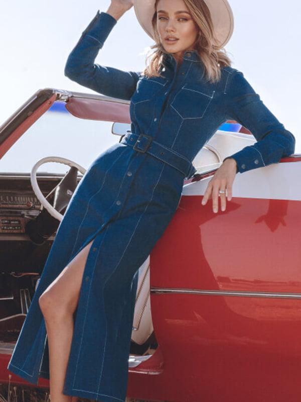 Платье синее   5681644