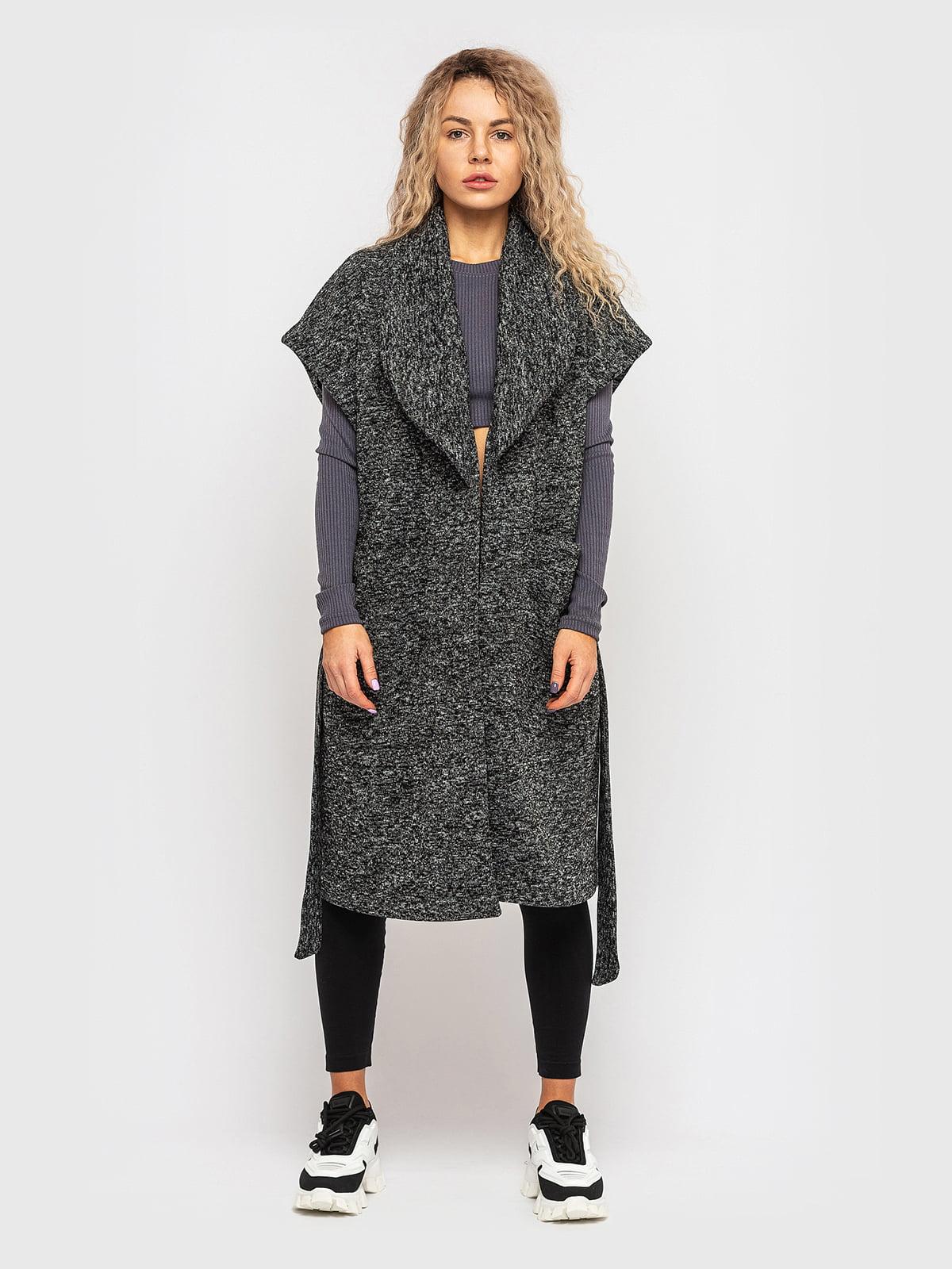 Пальто графітового кольору   5682590
