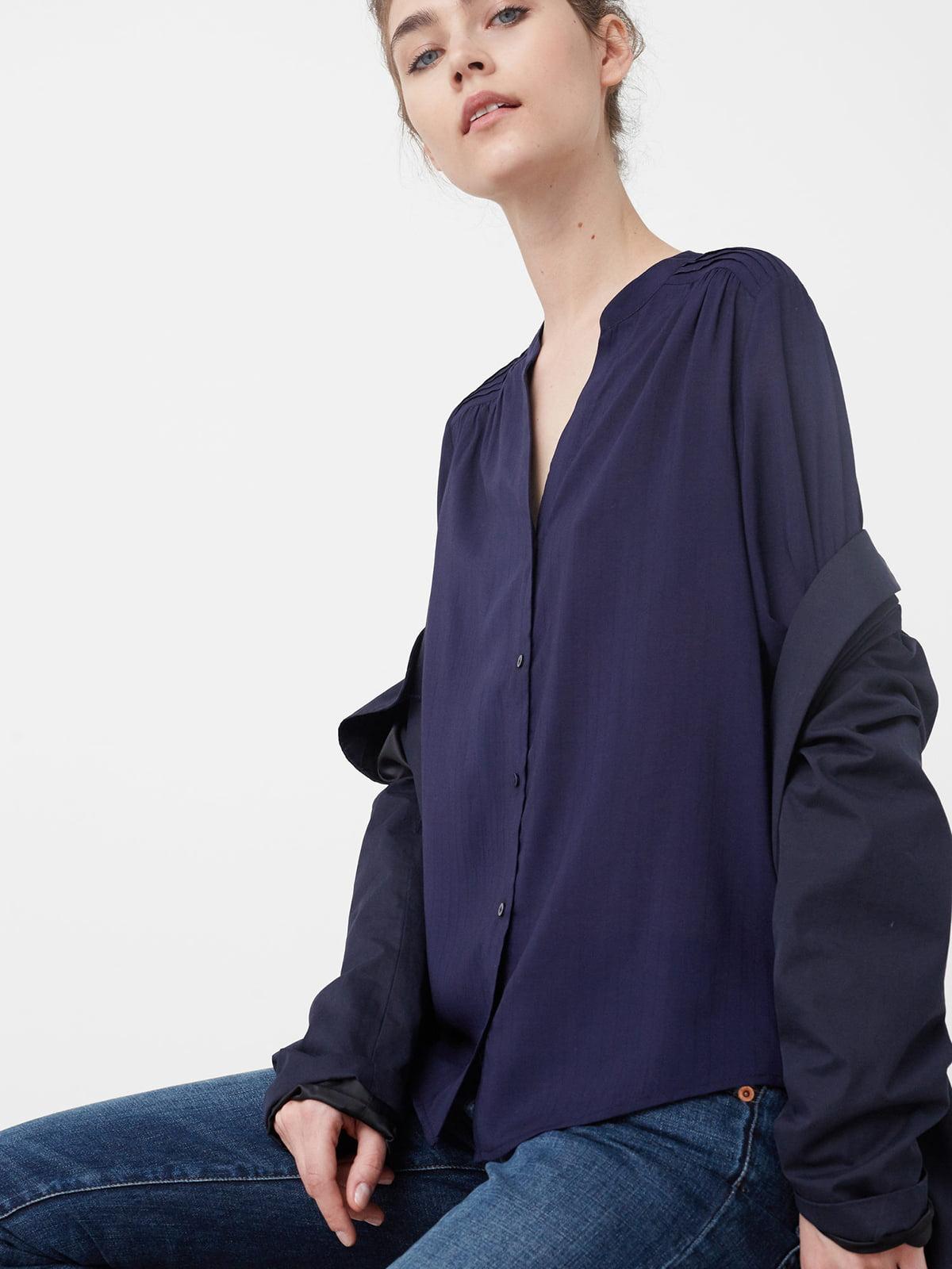 Блуза цвета индиго | 5233627