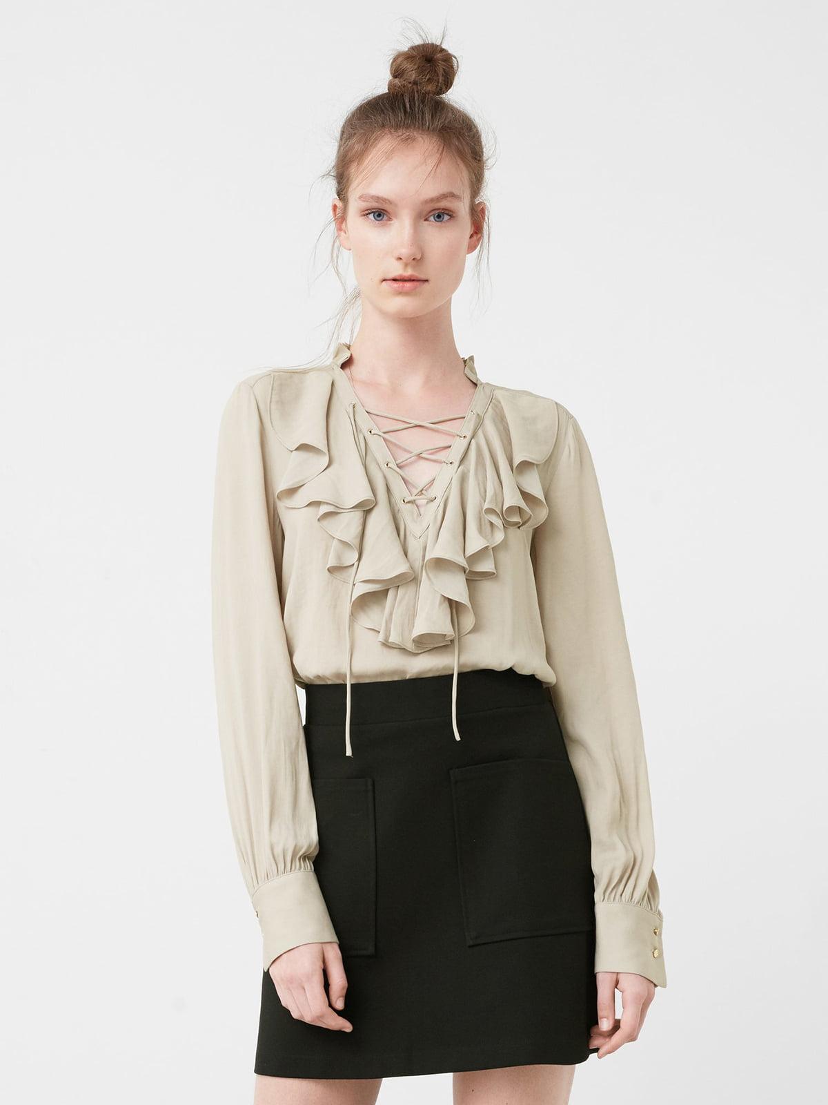 Блуза серо-бежевая | 5234258