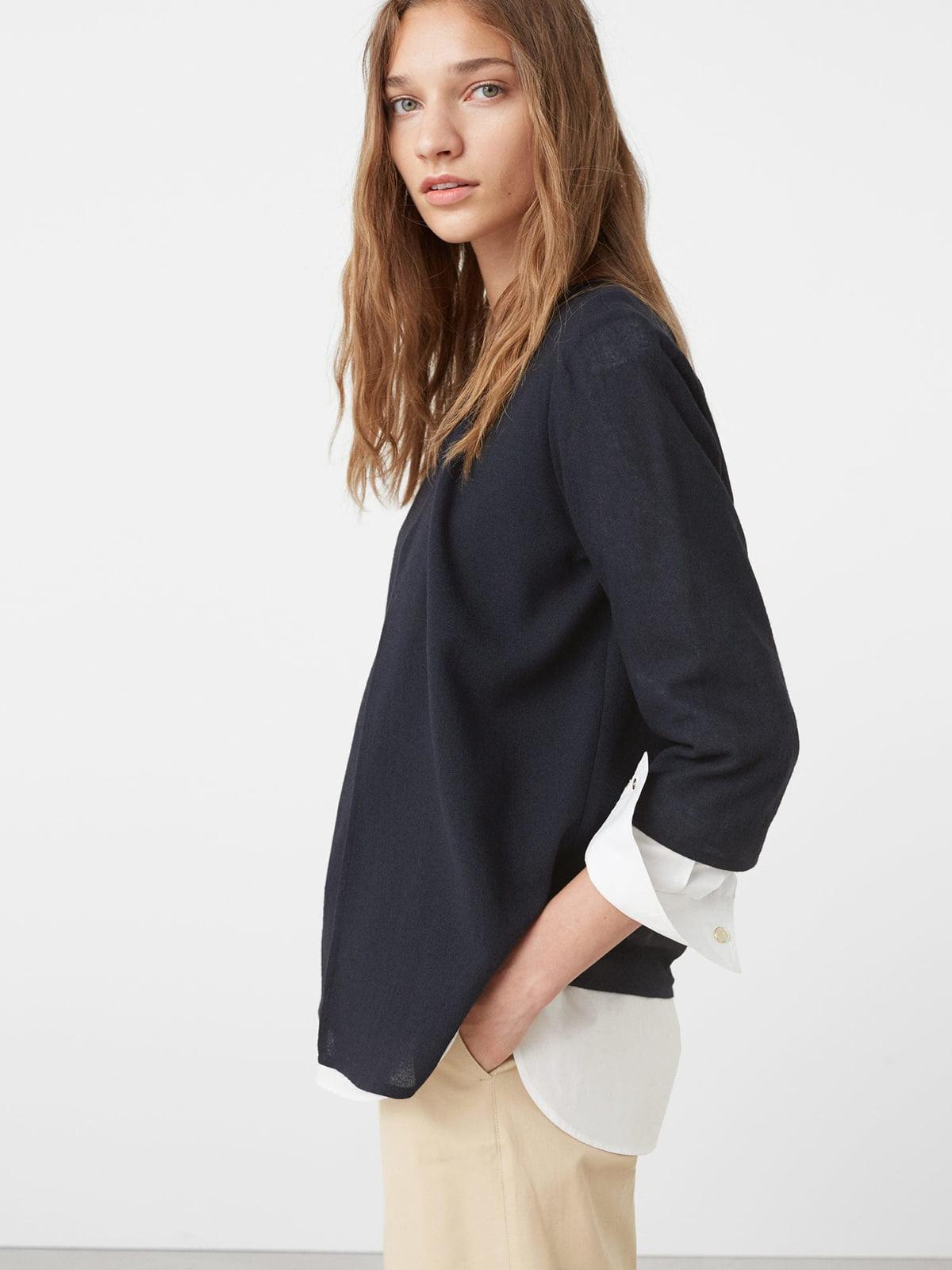 Блуза темно-синя | 5234489