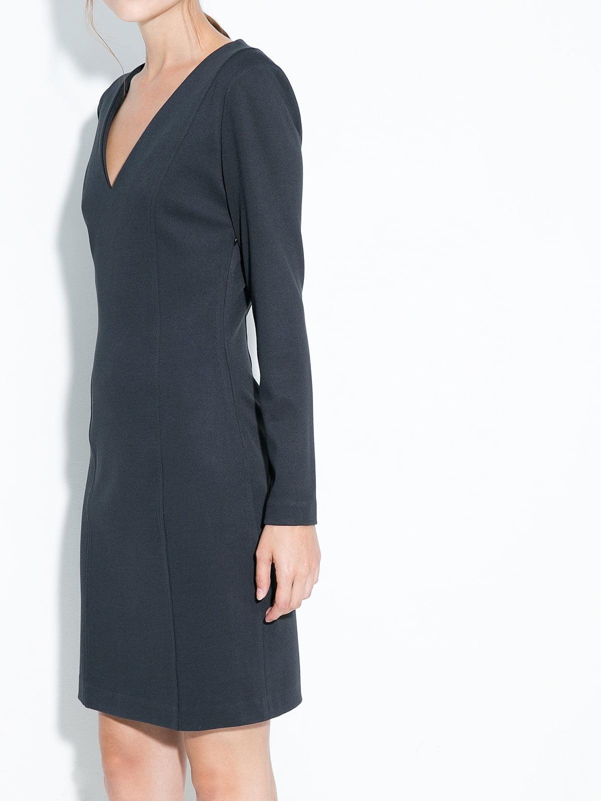 Платье темно-серое   5240465