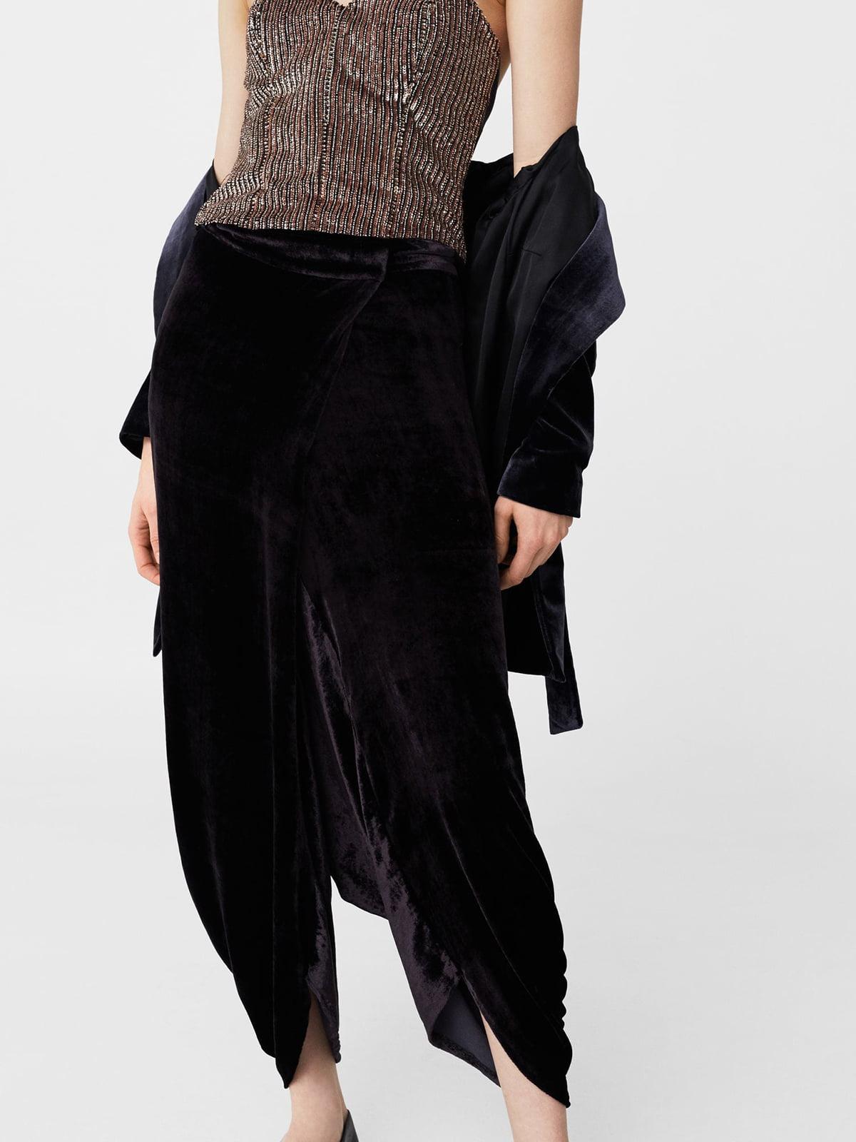 Чорні оксамитові штани | 5669124