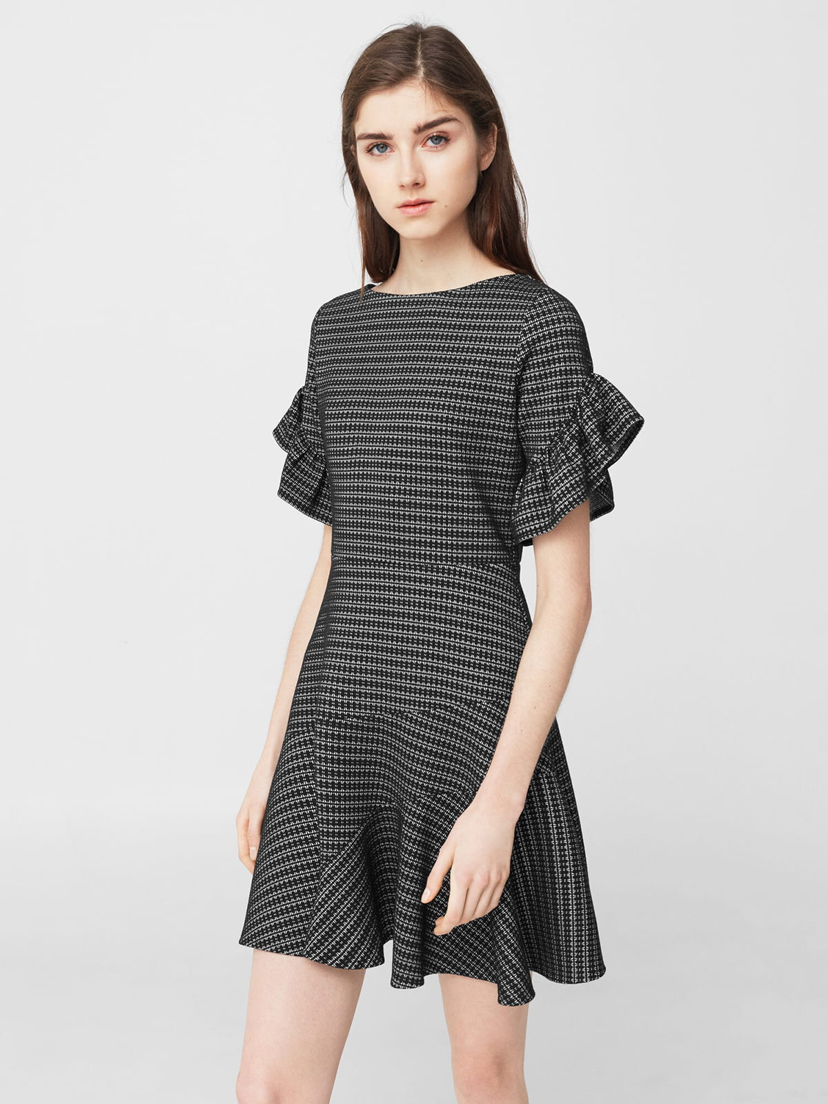 Платье черное с узором | 5669328