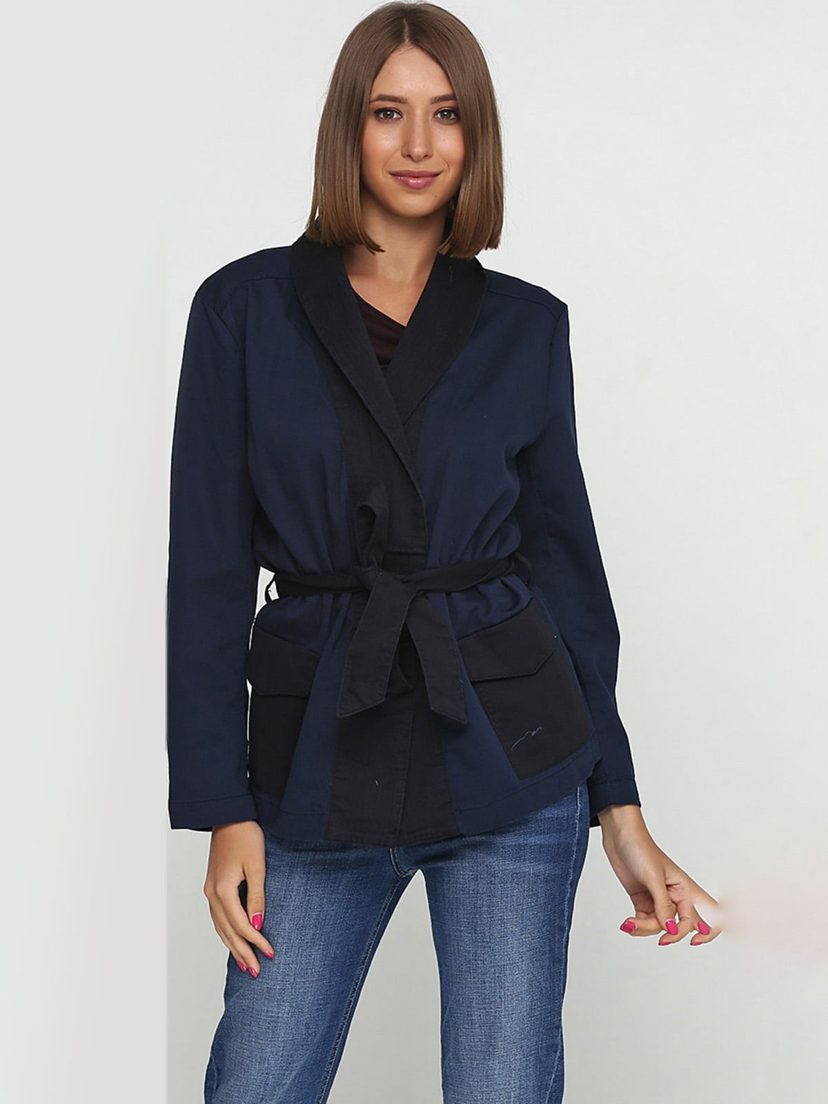 Жакет темно-синий | 5680165