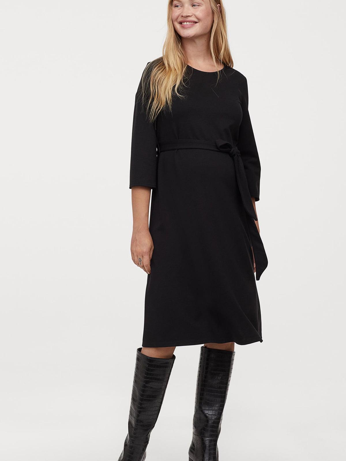 Платье для беременных черное | 5680271