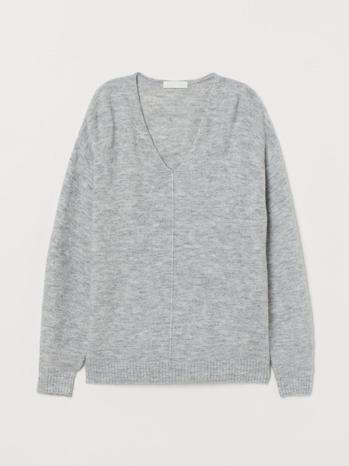 Пуловер светло-серый | 5680308