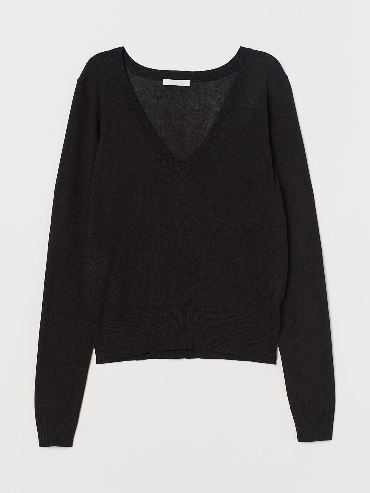 Пуловер черный | 5680390